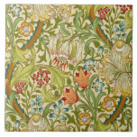 """William Morris Golden Lily Vintage Pre-Raphaelite Tile<br><div class=""""desc"""">William Morris Golden Lily Floral Vintage Art Wallpaper Design William Morris was an English textile designer, artist, writer, and socialist associated with the Pre-Raphaelite Brotherhood and British Arts and Crafts Movement. He founded a design firm in partnership with the artist Edward Burne-Jones, and the poet and artist Dante Gabriel Rossetti...</div>"""
