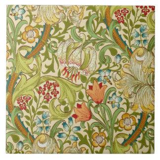 William Morris Golden Lily Vintage Pre-Raphaelite Tile
