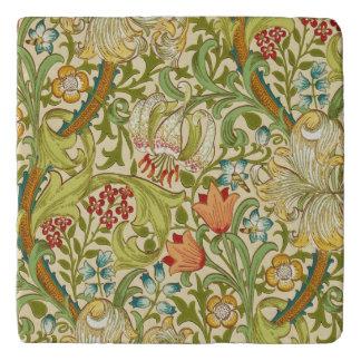 William Morris Golden Lily Vintage Pre-Raphaelite Trivet