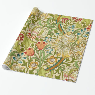 William Morris Golden Lily Vintage Pre-Raphaelite Wrapping Paper