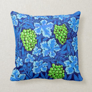 William Morris Grapevine, Cobalt Blue Throw Pillow