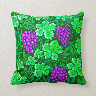 William Morris Grapevine, Purple and Green Throw Pillow