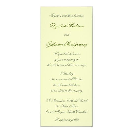 William Morris Green Leaves Wedding Invitation