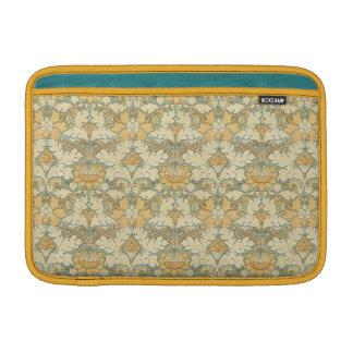 "William Morris ""Growing"" Gold Victorian Floral MacBook Sleeve"