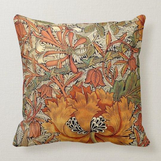 William Morris Honeysuckle Throw Pillow Zazzle Com