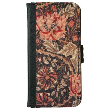 William Morris Honeysuckle Vintage Floral Wallet Phone Case For iPhone 6/6s