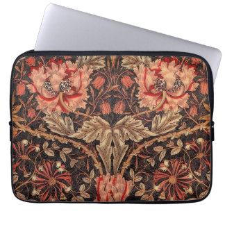 William Morris Honeysuckle Vintage Floral Laptop Computer Sleeves
