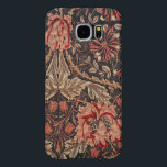 "William Morris Honeysuckle Vintage Floral Samsung Galaxy S6 Case<br><div class=""desc"">This lush design is from the William Morris collection of prints. In rich shades of red, rose, beige and gold against a charcoal gray background, this is a lovely floral design. William Morris (24 March 1834 - 3 October 1896) was an English textile designer, artist and writer, associated with the...</div>"