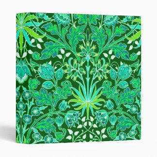 William Morris Hyacinth Print, Emerald Green 3 Ring Binder
