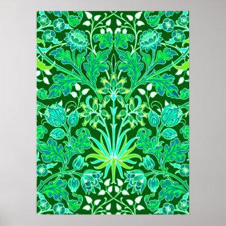 William Morris Hyacinth Print, Emerald Green Poster