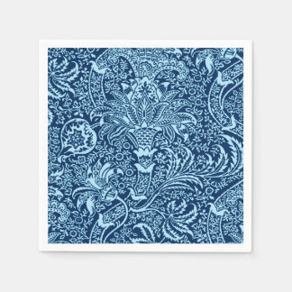 William Morris Indian, Dark Indigo and Sky Blue Paper Napkin