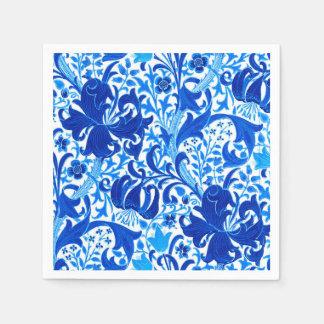 William Morris Iris and Lily, Cobalt Blue Paper Napkin