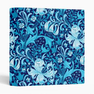 William Morris Iris and Lily, Indigo Blue 3 Ring Binder