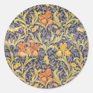 William Morris Iris Classic Round Sticker