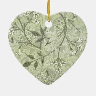 William Morris Jasmine Wallpaper Ceramic Ornament