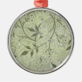 William Morris Jasmine Wallpaper Metal Ornament