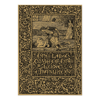 William Morris Kelmscott Press page 1896 Poster