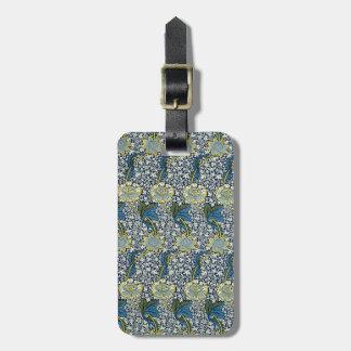William Morris Kennet Pattern (Blue) Bag Tag