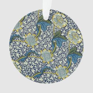 William Morris Kennet Pattern (Blue) Ornament