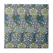 William Morris Kennet Pattern (Blue) Tile