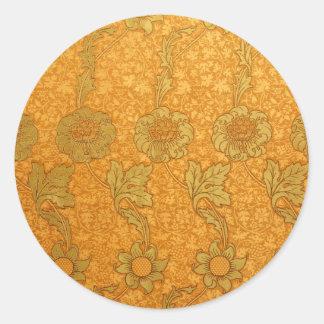 William Morris Kennet Pattern Classic Round Sticker