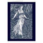 William Morris Lady Greeting Card