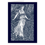 William Morris Lady Greeting Cards