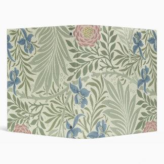 William Morris Larkspur Floral Pattern 3 Ring Binder