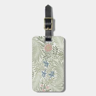 William Morris Larkspur Floral Pattern Luggage Tags