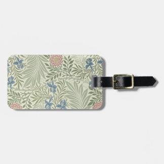 William Morris Larkspur Floral Pattern Bag Tag