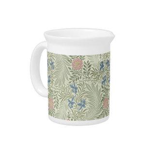 William Morris Larkspur Floral Pattern Pitcher