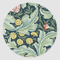 William Morris - Leicester vintage floral design Classic Round Sticker