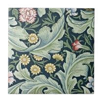 William Morris - Leicester vintage floral design Tile