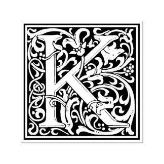 William Morris Letter K Victorian Floral Stamp