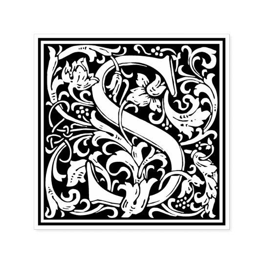 William Morris Letter S Victorian Floral Stamp Zazzle Com
