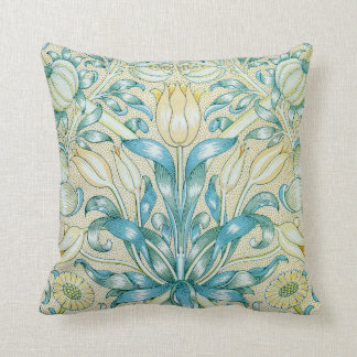 William Morris Lily and Pomegranate Floral Throw Pillow