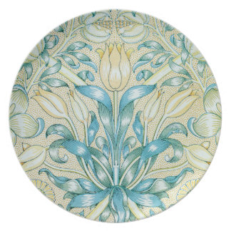 William Morris Lily and Pomegranate Pattern Party Plate