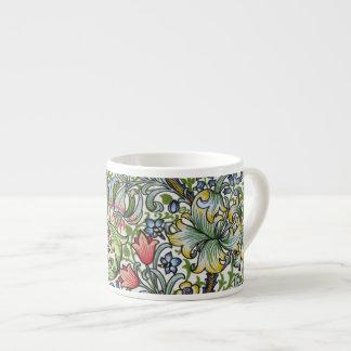 William Morris Lily Floral Chintz Pattern Espresso 6 Oz Ceramic Espresso Cup