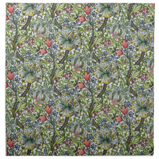 William Morris Lily Floral Chintz Pattern Printed Napkin