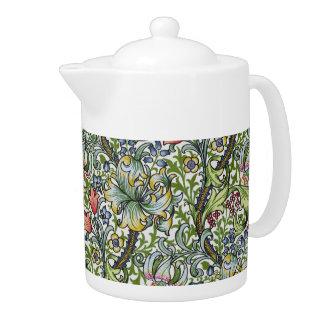 William Morris Lily Floral Chintz Pattern Teapot