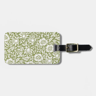 William Morris Mallow Green Pattern Tags For Bags
