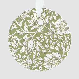 William Morris Mallow Green Pattern Ornament