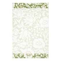 William Morris Mallow Green Pattern Stationery