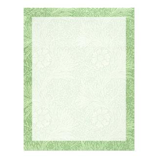 William Morris Marigold (Green) Pattern Letterhead