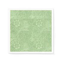 William Morris Marigold (Green) Pattern Paper Napkin