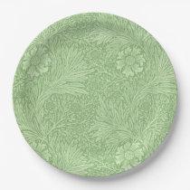 William Morris Marigold (Green) Pattern Paper Plate
