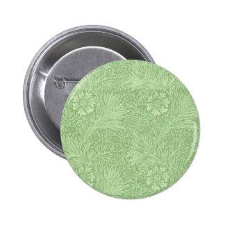 William Morris Marigold (Green) Pattern Pinback Button