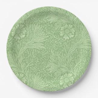 William Morris Marigold (Green) Pattern 9 Inch Paper Plate