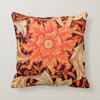 William Morris Marigold Vintage Floral Throw Pillow