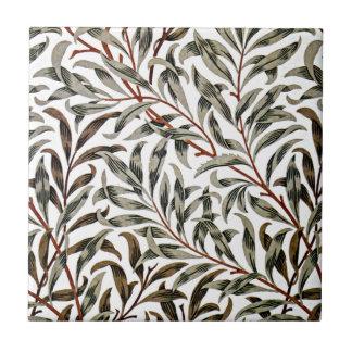 William Morris - modelo de la rama del sauce Azulejo Cuadrado Pequeño